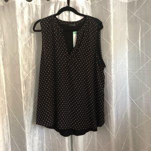 Papermoon Black multi fabric blouse
